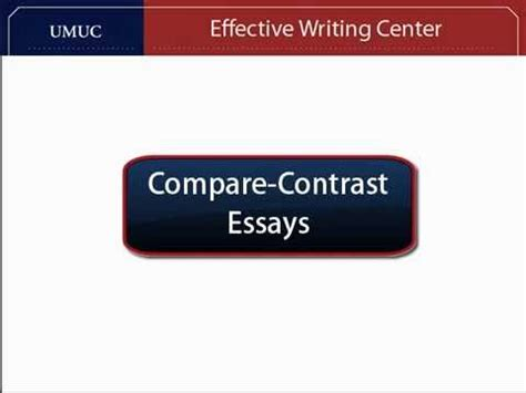 Thesis for contrasts essays